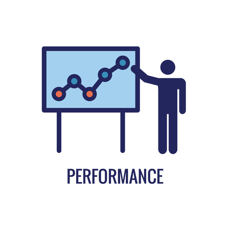 KPI - Key Performance Indicators Icon w Various Colors