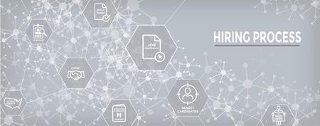 New Employee Hiring Process icon set w Web Header Banner Stok Fotoğraf - 113541835