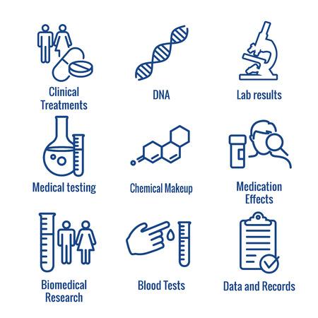 Icone mediche sanitarie - set di icone del processo di assunzione di nuovi dipendenti per la creazione di grafici di persone o scoperta scientifica