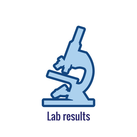 Drug Testing & Process Icon Vector Graphic with Rounded Edges