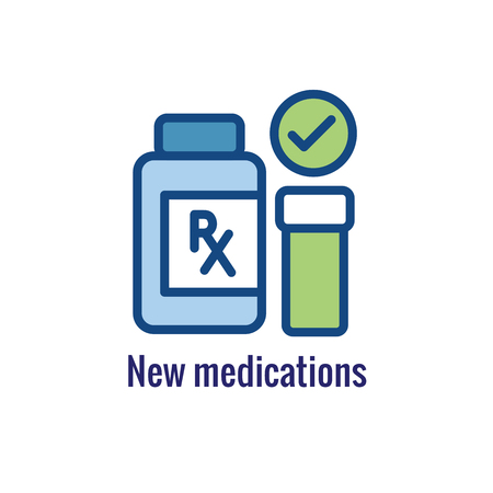 Drug Testing & Process Icon Vector Graphic with Rounded Edges 写真素材 - 114376486