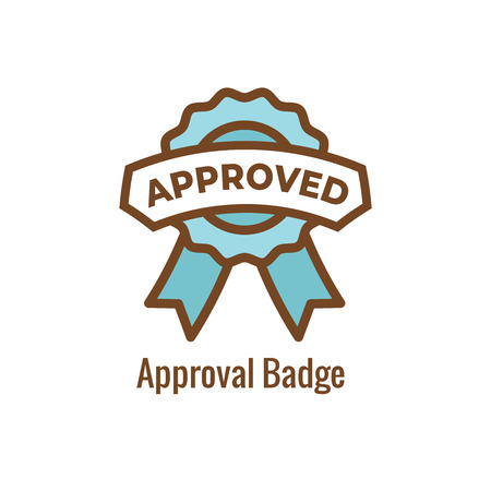 Drug Testing & Safety Approval Icon Vector Graphic with Rounded Edges 写真素材 - 114376488