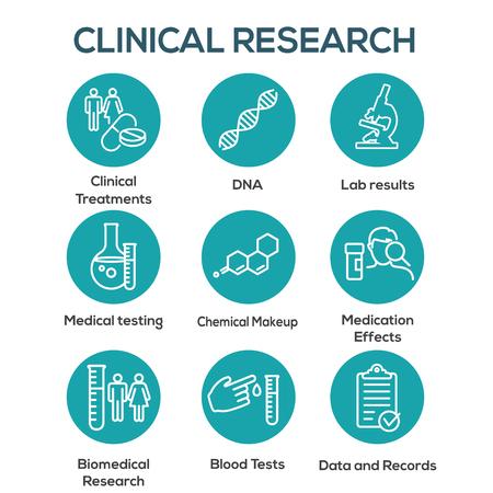 Icone mediche sanitarie - set di icone del processo di assunzione di nuovi dipendenti per la creazione di grafici di persone o scoperta scientifica Vettoriali