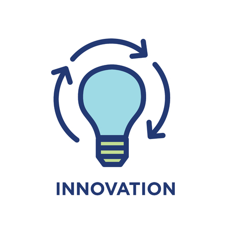 Innovation Outline - Line Icon Conveying Specific Purpose