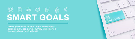 2019 SMART Goals Vector graphic w various Smart goal keywords Illustration