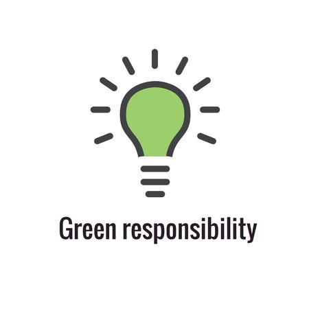 Contour de responsabilité ou icône de ligne véhiculant un objectif spécifique