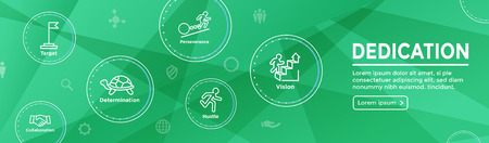 Persistence icon set with person climbing hill or mountain and persevering