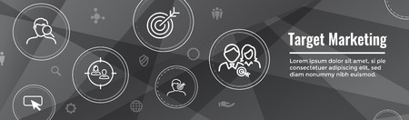 Target Marketing Icon Set - Web Header Banner