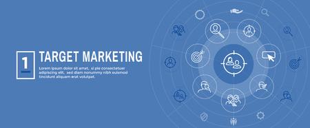 Target Marketing Icon Set - Web Header Banner Banque d'images - 116790213