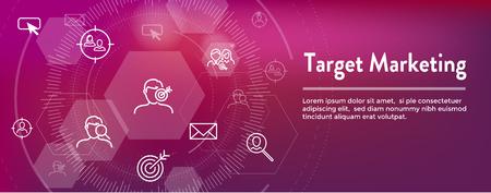 Target Marketing Icon Set - Web Header Banner