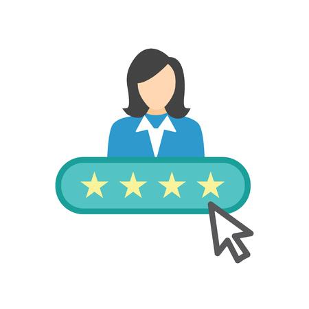 Referral Job Reference Icon con consigli, revisione delle prestazioni e idee ecc.