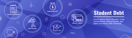 Graduate Student Loan Icon - Student Loan Graphics for Education Financial Aid / Assistance, Government Loans, and Debt