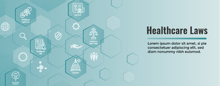 Health Laws and Legal icon set | various aspects of the legal system