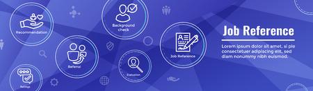 Referral Job Reference Web Header Banner & Icon Set