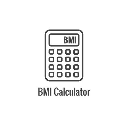 BMI  Body Mass Index Icon w image portraying weight balance