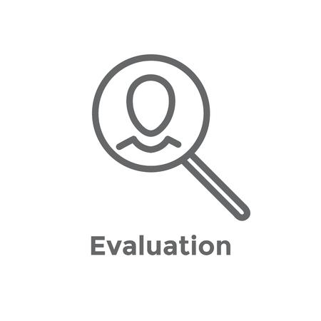 Empfehlungs-Job-Referenz-Symbol mit Empfehlungen, Leistungsüberprüfung usw Vektorgrafik