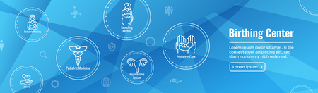 Pediatric Medicine w Baby or Pregnancy Related Icon 일러스트