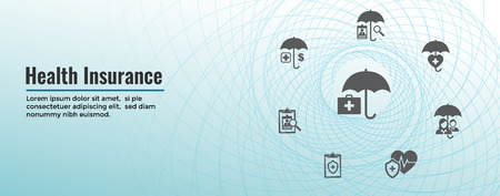 Insurance Web Header Banner - Covers homeowners, medical, life, vehicle insurance