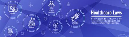Lois sur la santé et jeu d'icônes juridiques | divers aspects du système juridique