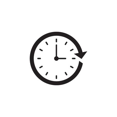 Icono de gestión del tiempo con fecha límite, prisa y simbolismo puntual
