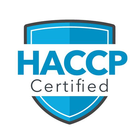 HACCP | Symbol für kritische Kontrollpunkte der Gefahrenanalyse mit Auszeichnung oder Häkchen