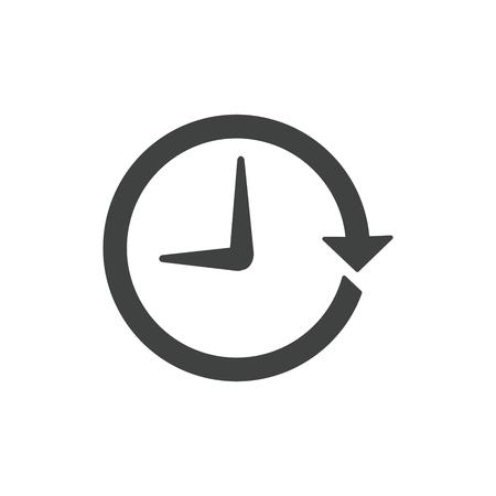 Icono de gestión del tiempo con fecha límite, prisa y simbolismo puntual Ilustración de vector