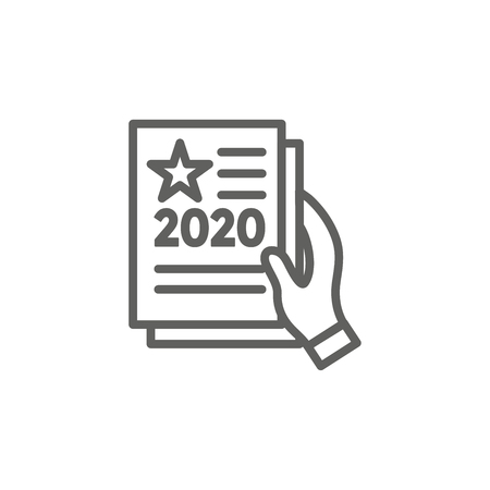 Voting 2020 Icon w Vote, Government, and Patriotic Symbolism and Colors Çizim