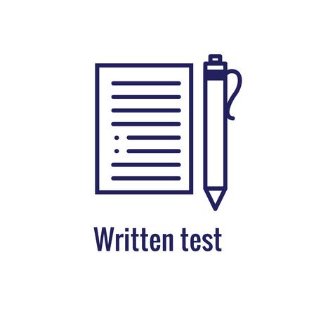 Jeu d'icônes de test et de licence de pilotes et bannière d'en-tête Web Vecteurs