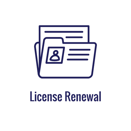 Drivers Test & Licentie Icon Set en Web Header Banner