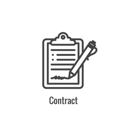 New Business Process Icon w Contract Signing phase