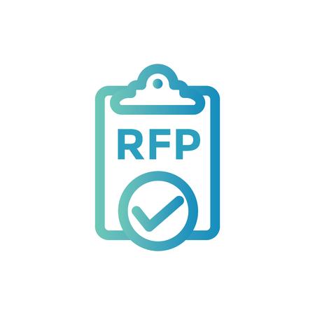 RFP Icon - request for proposal concept - idea 일러스트