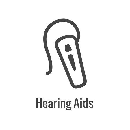 Hearing Aid  loss with Sound Wave Images Set