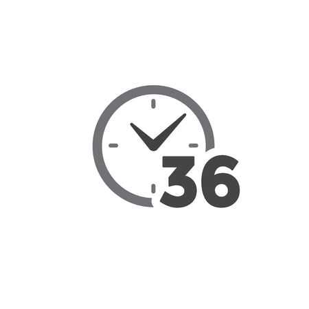 Time Management Icon w Deadline, Hurry, and Punctual Symbolism