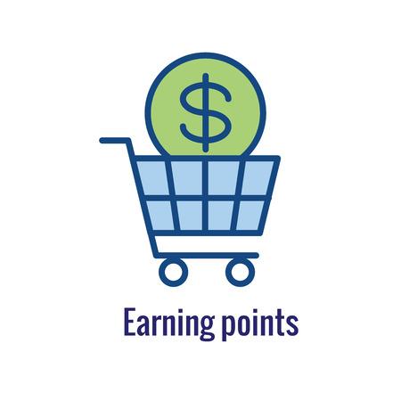 Customer Rewards Icon : Money Concept and Reward /  Discount Image Illustration
