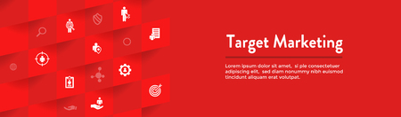Target Marketing Icon Set - Web Header Banner Vetores