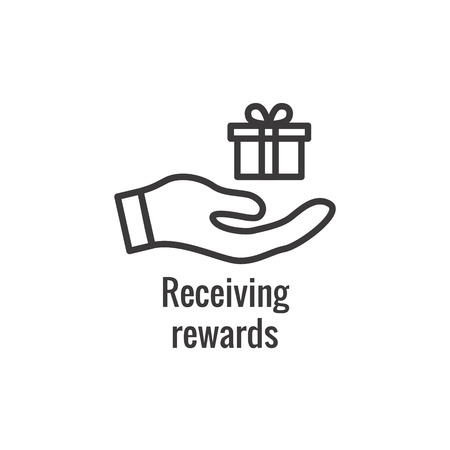Kundenbelohnungssymbol: Geldkonzept und Belohnungs-/Rabattbild