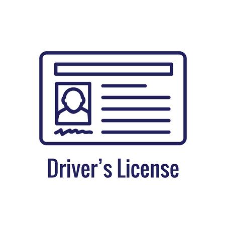 Drivers Test & License Icon Set and Web Header Banner Vektorgrafik
