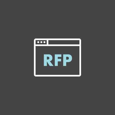 RFP Icon - request for proposal concept - idea  イラスト・ベクター素材