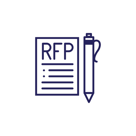 RFP Icon - request for proposal concept - idea Иллюстрация