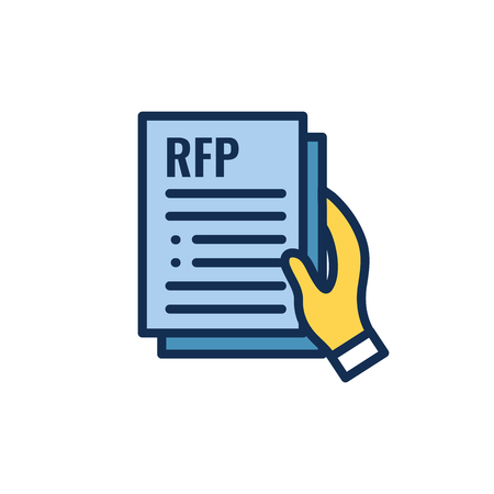 RFP Icon - request for proposal concept - idea Illustration