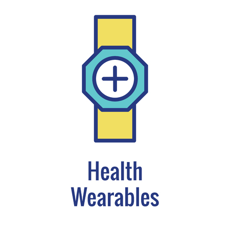 Digital Health Icon - Wearable Technology or Mobile  Tablet image