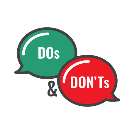 Do's and Don't or Good and Bad Icons with Positive and Negative Symbols Ilustrace