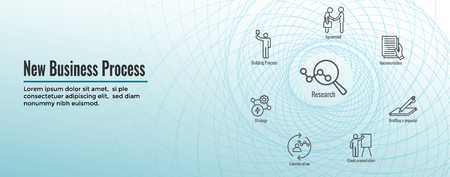 New Business Process Web Header Banner & Icon Set