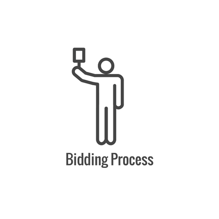 New Business Process Icon - Bidding procedure phase