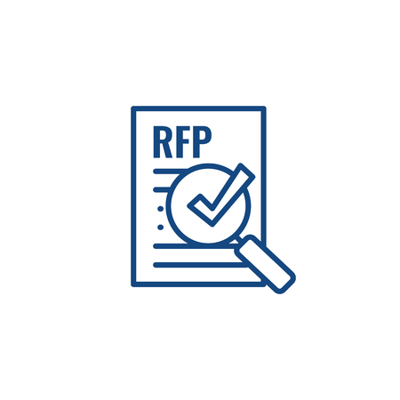 RFP Icon - request for proposal concept - idea Çizim
