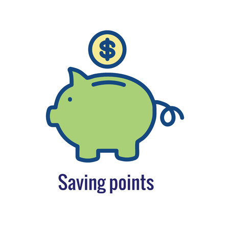 Customer Rewards Icon : Money Concept and Reward /  Discount Image Stock Illustratie