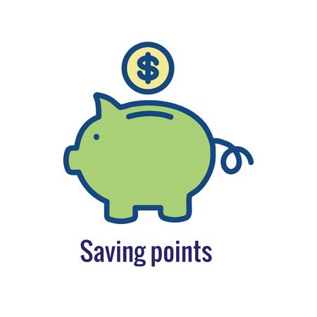 Kundenbelohnungssymbol: Geldkonzept und Belohnungs-/Rabattbild Vektorgrafik