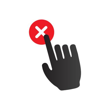 Pictogram voor regels en voorschriften voor e-mailmarketing met idee voor afmelden