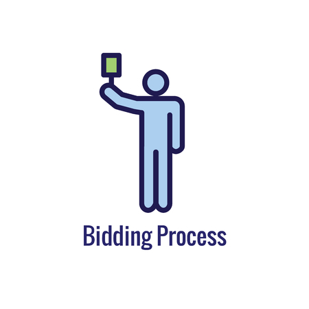 New Business Process Icon w Bidding procedure phase