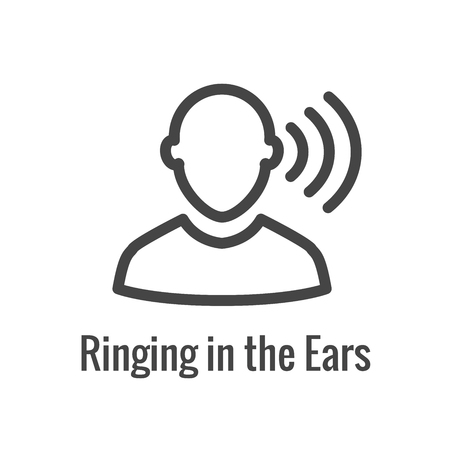 Hearing Aid / loss with Sound Wave Images Set